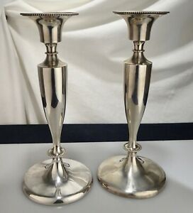Bailey Banks Biddle Sterling Silver Candlesticks 440 G 56055