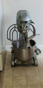 Used Hobart Mixer A 200 20 Qt Bowl Beater Paddle And Hook