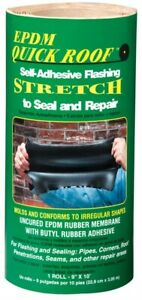 Quick Roof 9 In H X 9 In W X 10 Ft L Black Rubber Roll Flashing Tape