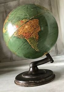 Antique Vintage Replogle Standard Globe 8 Persia Iran 1930 S Unique Base