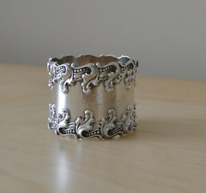 Woodside Sterling Silver Rococo Napkin Ring