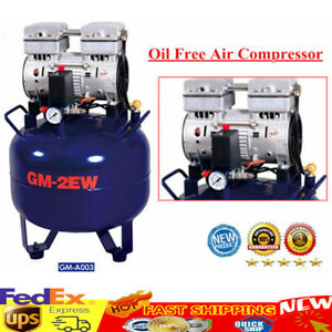 Dental Noiseless Oilless Air Compressor Pressure Motor Silent Oil Free 32l 850w