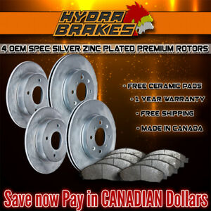 Fits 2003 2004 Ford Expedition 4wd Oe Blank Brake Rotors Ceramic Slv