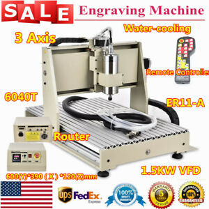 220v 3axis 6040z Cnc Router 1500w Engraver Milling Carving Engraving Machine rc