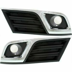 For Chevrolet Traverse 2013 2014 2015 Fog Lamp Cover W hole W chr Right left