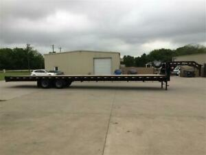 Pj Gooseneck Trailer 48 With 40 Flat Deck 102 Wide