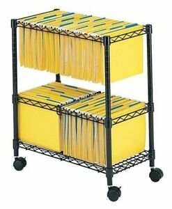 Safco 5278bl Rolling File Cart 2 tier