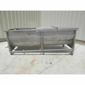 Used 1 800 Gallon Stainless Steel Tub Trough Tank