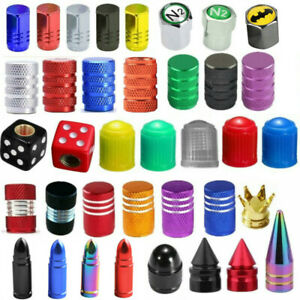 4 10 100x Universal Car Truck Bike Wheel Tire Air Valve Stems Caps Dust Cover