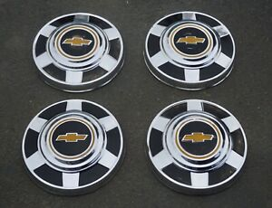 Vintage Oem Set Of 1976 1987 Chevrolet Truck 3 4 Ton C20 C30 Dog Dish Hubcaps