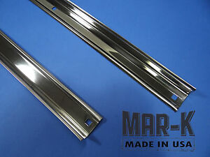 Chevrolet Short Stepside Truck Angle Strips Polished Stainless Steel Set 1940 46