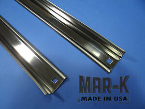 Chevrolet Short Stepside Truck Angle Strips Unpolished Stainless Steel Set 40 46
