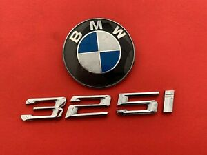 1999 2001 Bmw E46 325i Rear Trunk Lid Emblem Logo Badge Symbol Set Used