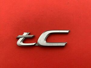 05 06 07 08 09 10 Scion Tc Rear Trunk Lid Emblem Logo Badge Sign Symbol Oem 10