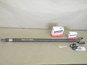 Inner Axle Shaft With New U Joint Dana 44 Front Ihc Scout Jeep Lh Long Side