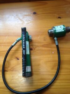 Greenlee 746 Knockout Ram And 767 Hand Pump Hydraulic Knockout
