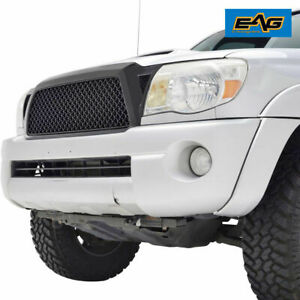 Eag Front Grill Full Hood Upper Replacement Grille For 05 11 Toyota Tacoma