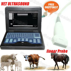 Vet Veterinary Notebook Ultrasound Scanner Machine With 7 5mhz Linear Probe