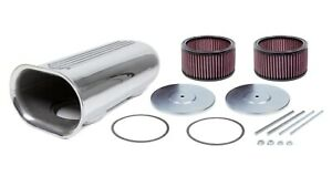 Air Cleaner Assembly Street Scoop 18 3 8 Length Dual And Single 5 1 8 Al Pol