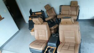14 Lincoln Navigator Brown Leather Seats Center Console Door Panels