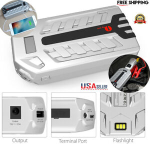 16000mah Car Jump Starter Connector Emergency Battery Charger Power Bank Booster