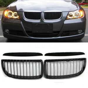 For Bmw E91 E90 Saloon Sedan 2005 2008 Front Kidney Grille Grill Gloss Black