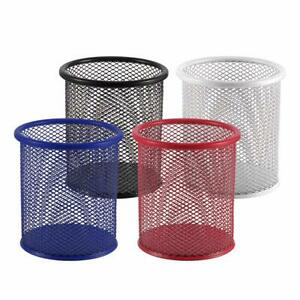 Pencil Holder Pen Organizer Metal Mesh Cup Holders Office Desk Medium 4 Colors