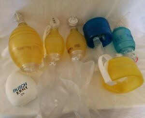 Lot Cpr Manual Oxygen Resuscitator Training Bags 1 Mask Adult Junior Baby Child