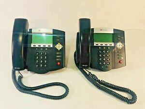 Lot Of 4 Polycom Soundpoint Ip 450 Office Phones