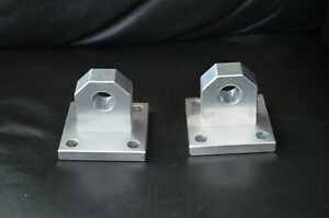 Aluminum Bolted Shackle Mounts Bumper Winch D Ring Bolt Plates Tie Down