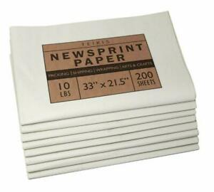 Teikis Newsprint Paper 200 Sheets Quality Newspaper Paper For Moving Packing