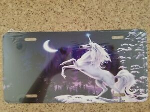 Unicorn Novelty Metal License Plate Front Car Tag