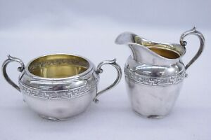 Gorham Sterling Silver Sugar Bowl And Cream 2504