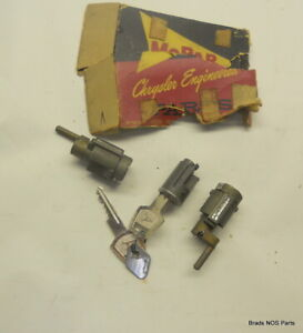 Nos Mopar 1957 1959 Imperial Crown Lock Cyl Keys Pkg Ignition Doors 1698668