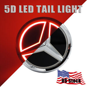 Led Car Tail Rear Logo Badge Emblem Drl Light For Mercedes Benz S350 S300l Red