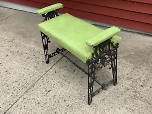 Art Deco Cast Iron Old Ladies Vanity Dressing Table Aesthetic Bench Will Ship