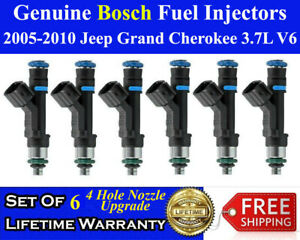 Oem 4 Hole Set Of 6 Bosch Fuel Injectors For 2005 2010 Jeep Grand Cherokee 3 7l