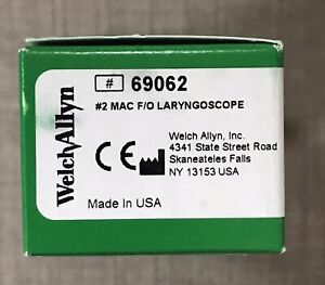 Welch Allyn 69062 2 Macintosh Fiber Optic Laryngoscope Blade Nib