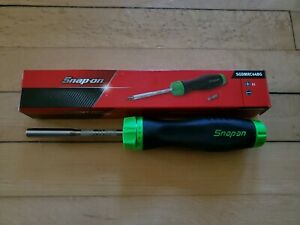 New Snap On Sgdmrc44bg Ratcheting Soft Grip Green Screwdriver Free Shipping