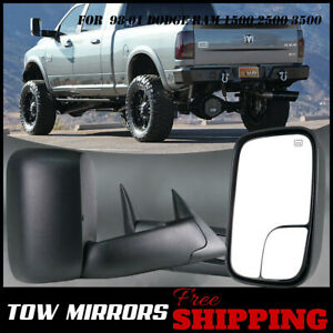 2p Left right Power heated Tow Mirrors1998 2001 For Dodge Ram 1500 2500 3500