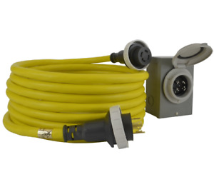 Conntek Gibl1430 025 30 Amp Generator Cord And Inlet Box Temp Power 25
