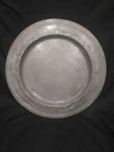 Antique 1700 S American English Touchmark Forged Pewter Plate Platter R386