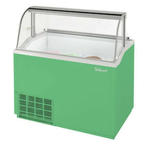 Turbo Air Tidc 47g n 47 Ice Cream Dipping Cabinet With Curved Glass Green