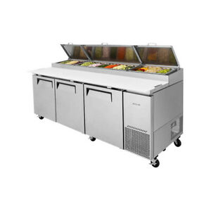 Turbo Air Tpr 93sd n 93 Three Section Refrigerated Pizza Prep Table 31 0 Cu