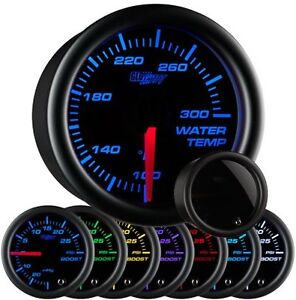 52mm Glowshift Tinted 7 Color Water Temperature Gauge Gs T706
