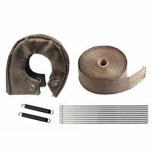 T4 Heat Titanium Turbo Shield Blanket Cover 50ft Exhaust Header Wrap 2 Tape