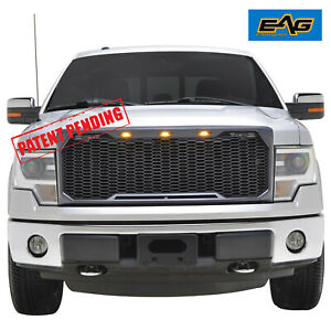 Eag F 150 Front Led Raptor Grill Full Gray Upper Grille Fit 09 14 Ford F150