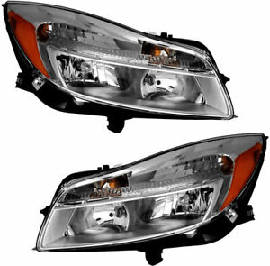 Fit For 2011 2012 2013 2014 Buick Regal Headlights Halogen Right Left Pair