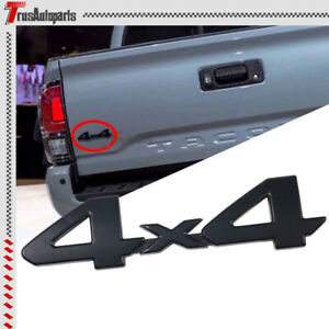 For Toyota Tacoma Tundra 4x4 Emblem Matte Black Painted Truck Badge Sticker Logo