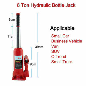 6 Ton Low Profile Hydraulic Bottle Jack Off Road Suv Car Tire Changing Lift Tool